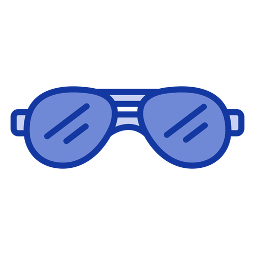 Aviator sunglasses flat Transparent PNG