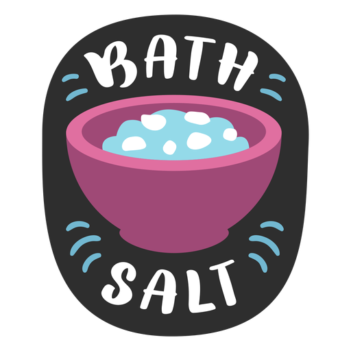 Bath salt bathroom label flat Transparent PNG