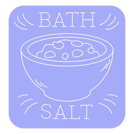 Bath salt bathroom label line Transparent PNG