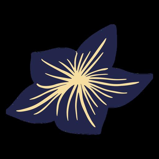 Blue hawaiian flower Transparent PNG