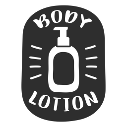 Body lotion bathroom label black
