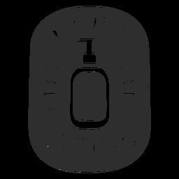 Loción corporal etiqueta de baño negro