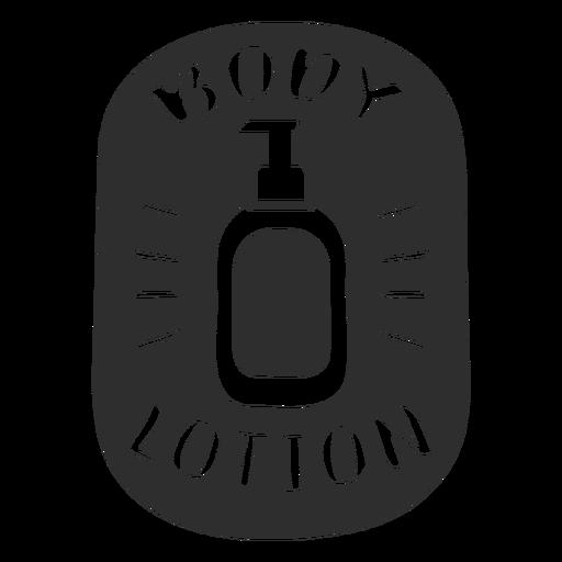 Body lotion bathroom label black