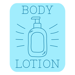 Body lotion bathroom label line