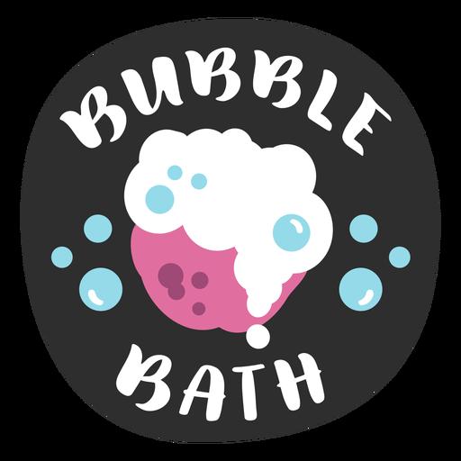 Bubble bath bathroom label flat Transparent PNG