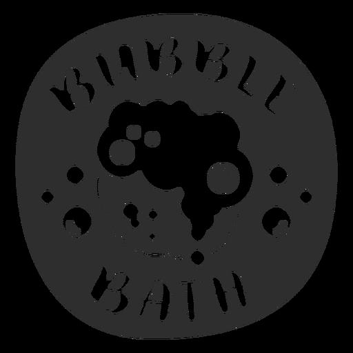 Bubble bath bathroom label black Transparent PNG