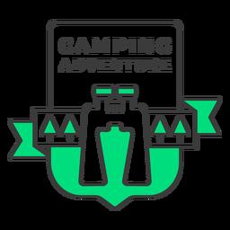 Camping adventure badge stroke