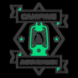 Camping adventure lantern badge stroke