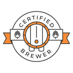Trazo de insignia de cervecero certificado