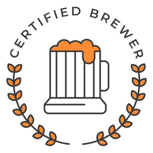 Certified brewer pint badge stroke