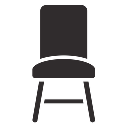 Frente de silla negro