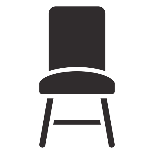 Chair front black - Transparent PNG & SVG vector file