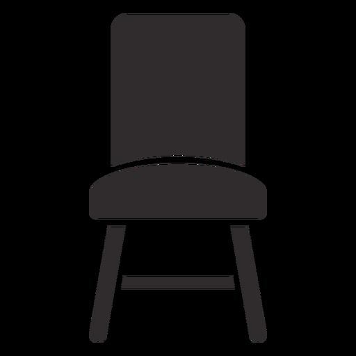 Frente de silla negro Transparent PNG