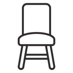Carrera frontal de la silla