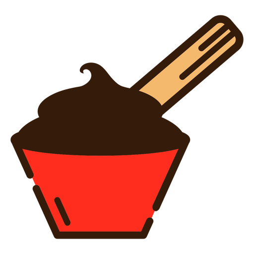 Chocolate and churro icon Transparent PNG