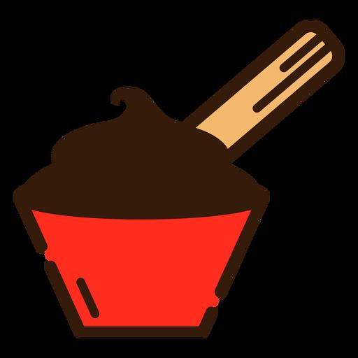 Chocolate and churro icon