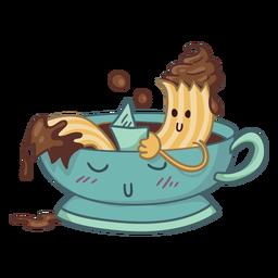 Churro bathing character