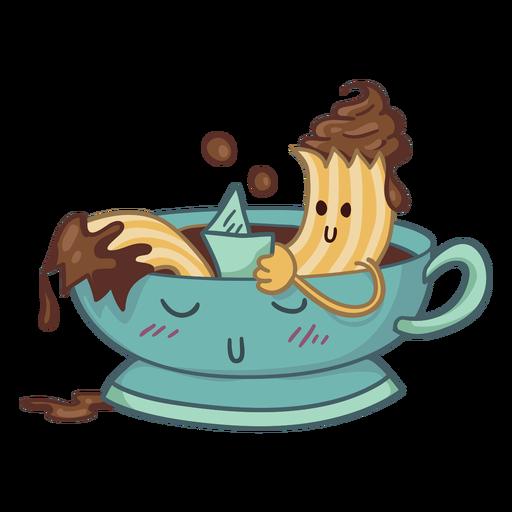 Churro bathing character Transparent PNG