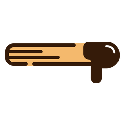 Churro with chocolate icon