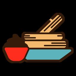 Churros und Schokoladenikone