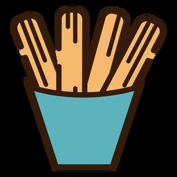 Icono de churros en un tazón