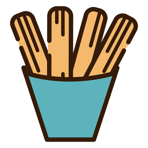 Churros in bowl icon Transparent PNG