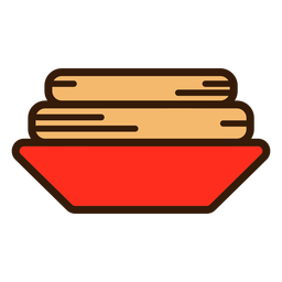 Churros en icono de placa