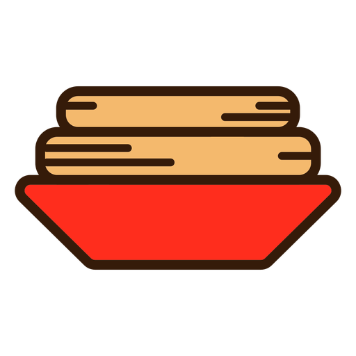 Churros in plate icon