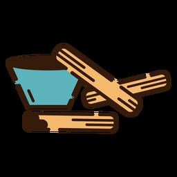 Churros com ícone de chocolate