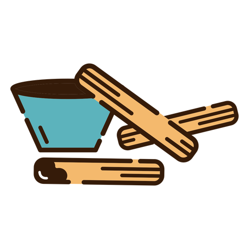 Churros with chocolcate icon Transparent PNG