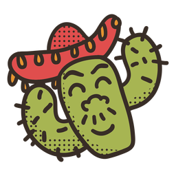 Personaje de cactus cinco de mayo