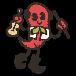 Personagem de pimentão de cinco de maio