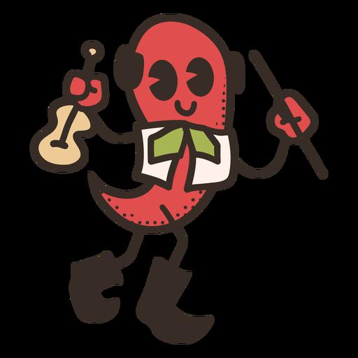 Cinco de mayo chili character Transparent PNG