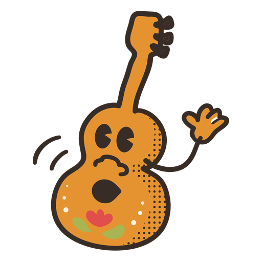 Cinco de mayo guitar character