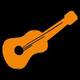Homem de guitarra de cinco de maio plana