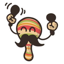 Personagem de maraca de cinco de maio