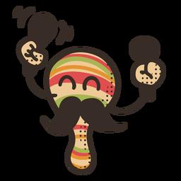 Personaje de maraca del Cinco de Mayo