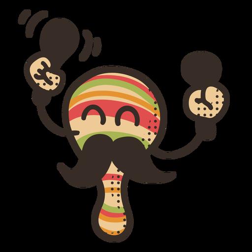 Cinco de mayo maraca character Transparent PNG