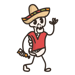 Cinco de mayo skeleton character