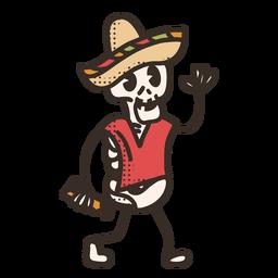 Personaje esqueleto del cinco de mayo