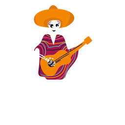 Cinco de mayo skeleton flat
