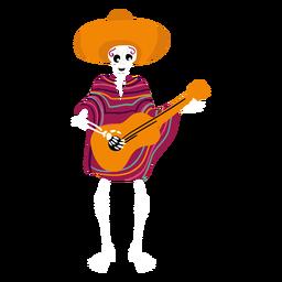 Esqueleto de cinco de mayo plano