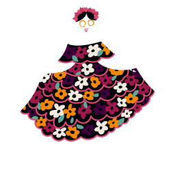 Cinco de mayo skeleton lady flat