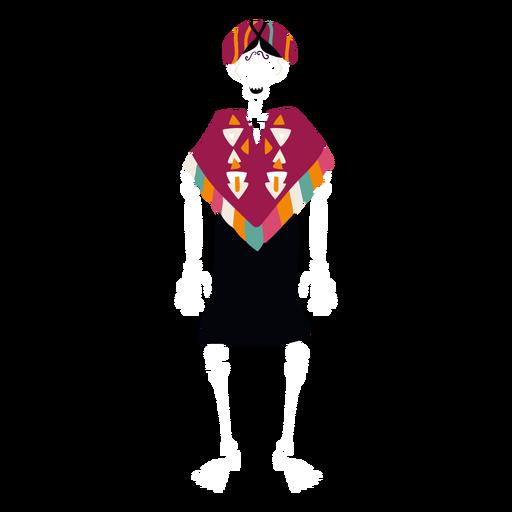 Plano de mujer esqueleto de cinco de mayo Transparent PNG