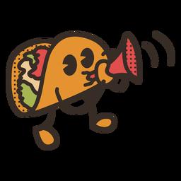 Cinco de mayo taco character