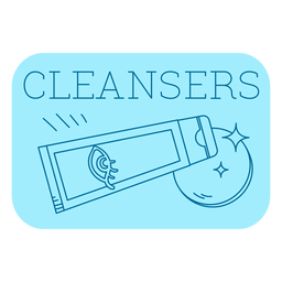 Cleansers bathroom label line