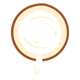 Design de leite de coco
