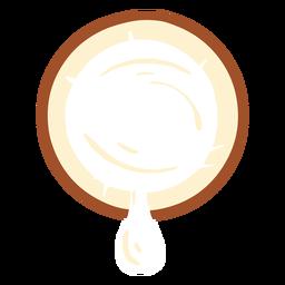 Diseño de leche de coco