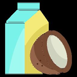 Ícone de leite de coco