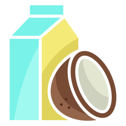 Icono de leche de coco